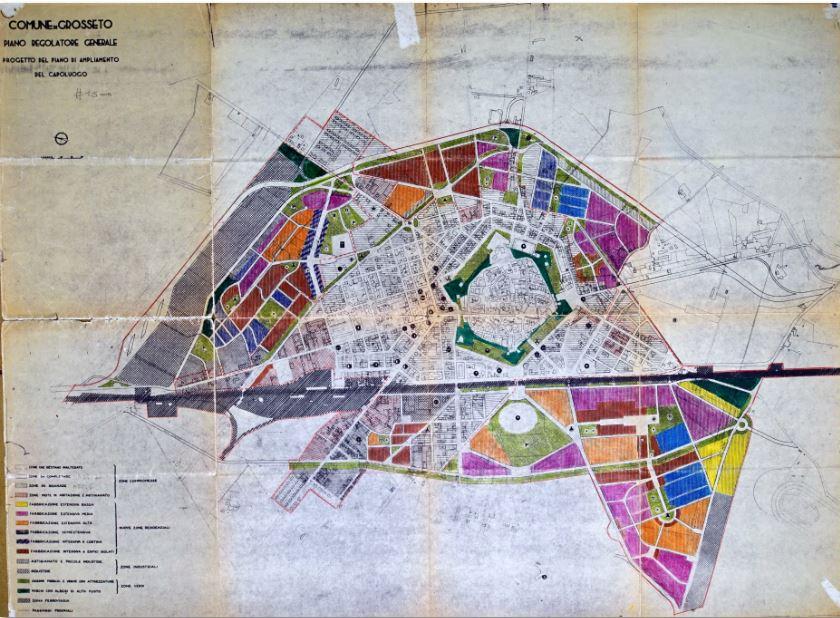 Piano Sabatini, 1959 (fonte: Ufficio urbanistica del Comune di Grosseto)